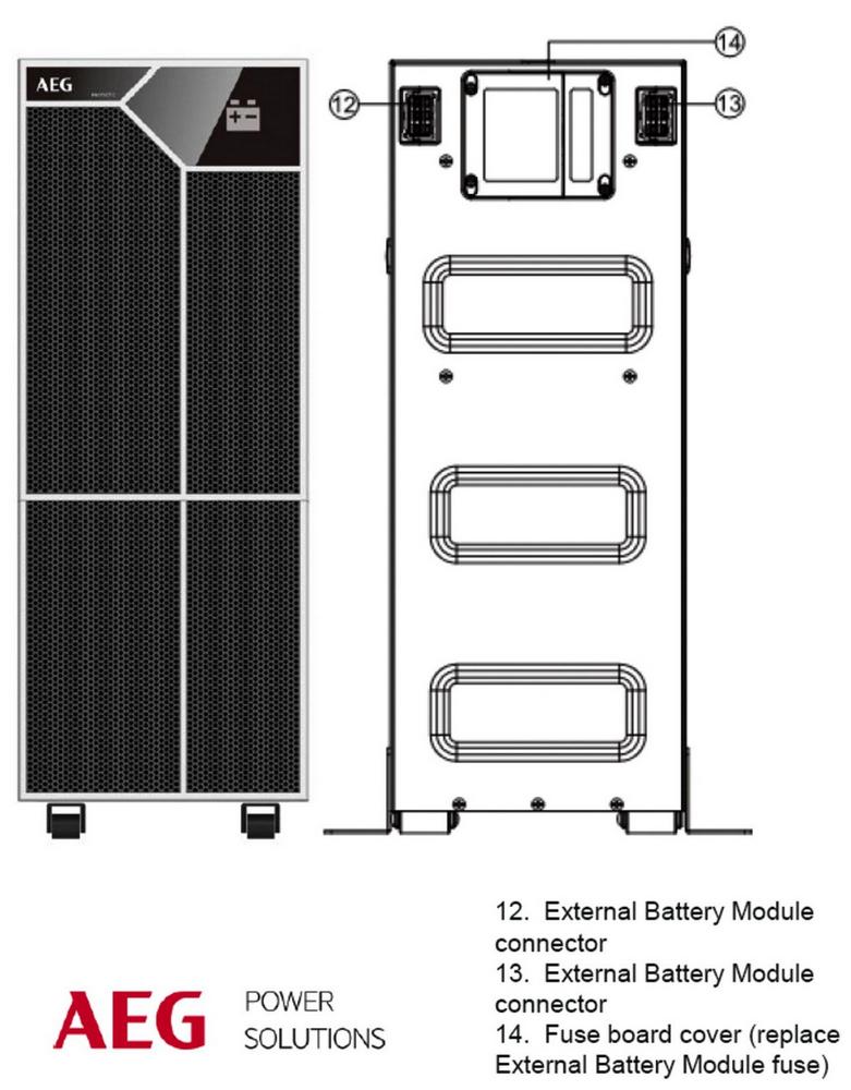 AEG PROTECT C LCD 10000 VA BATTERY PACK